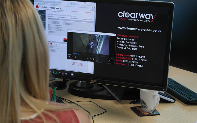 CCTV live monitoring from Clearway HQ