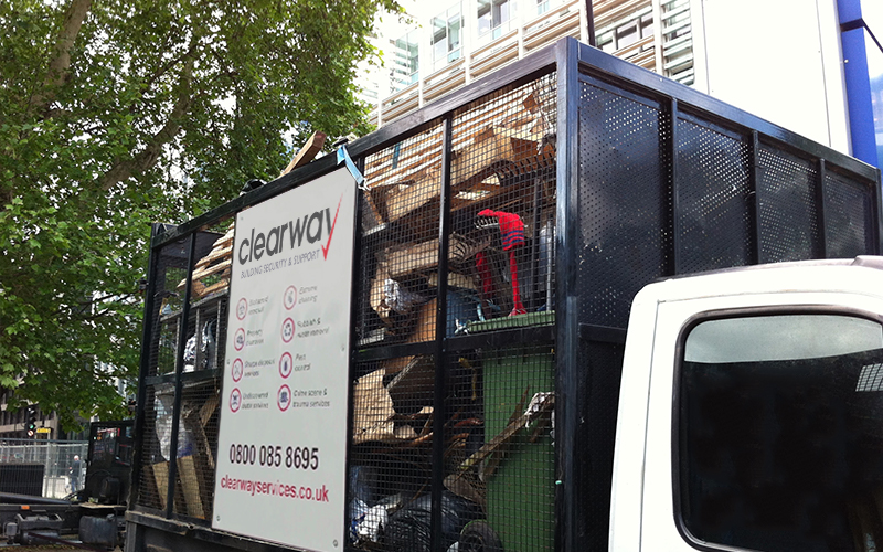 Clearway Cage-truck Removing Waste