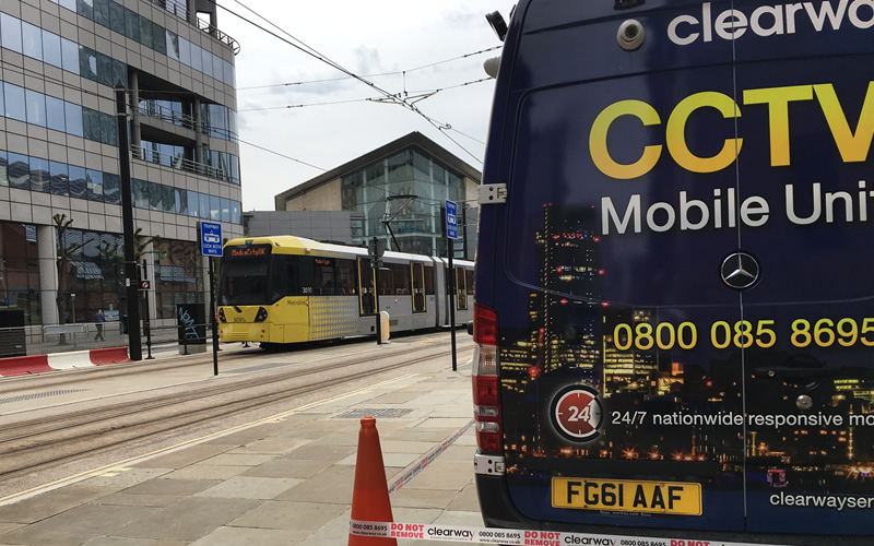 Tram monitoring on site in Manchester outside GMEX