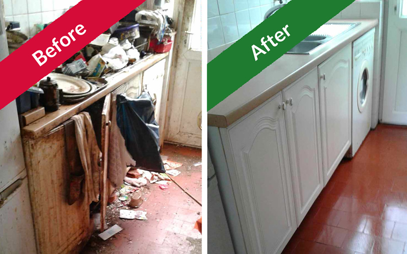 Extreme Clean – kitchen before and after