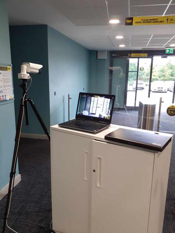 Body Temperature Detection Camera & Laptop